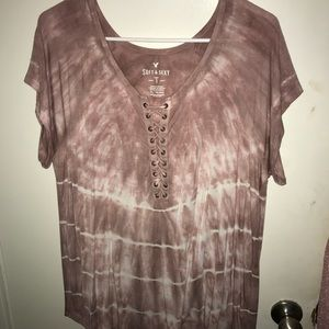 American eagle lace up soft & sexy tie dye shirt